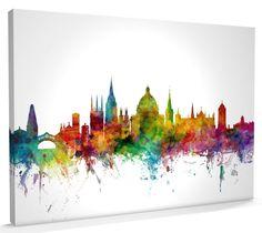 Oxford England Skyline canvas art print poster