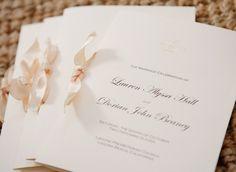 wedding ceremony program idea; Marisa Holmes Photography