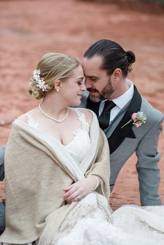 bride and groom Sedona