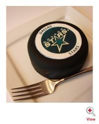 individual hockey puck cakes?  I like it.