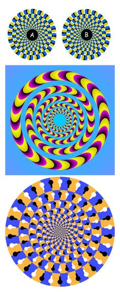 Optical Illusions - Spinning Optical Illusions from my Illusions Board Op Art, Eye Illusions, Cool Optical Illusions, Optical Illusion Art, Eye Tricks, Mind Tricks, Magic Tricks, Magic Eyes, Art Plastique