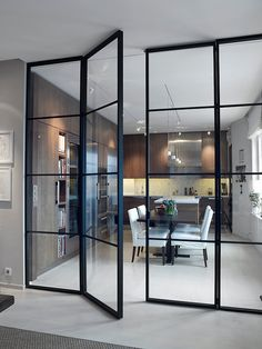 Interior french doors add a beautiful style and elegance to any room in your home. House Design, House, Interior, Home, Interior Barn Doors, House Interior, Innovation Design, Interior Design, Glass Wall