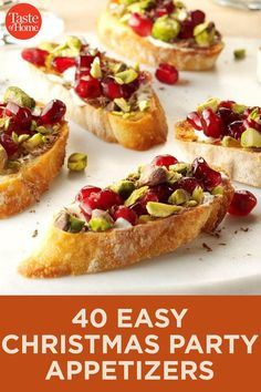 Our Best Christmas Appetizers Keep your party moving with these easy holiday appetizers. Finger Food Appetizers, Appetizers For Party, Appetizer Recipes, Appetizer Ideas, Xmas Food, Christmas Cooking, Lotte Au Curry, Best Christmas Appetizers, Christmas Snacks