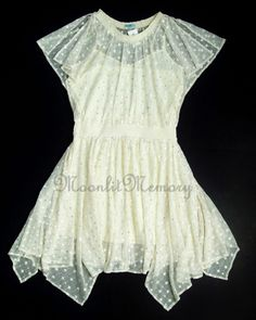 New LeifNotes Anthropologie Dress fit M-L size 10 Cream Gold Dot-Gleam Blouson