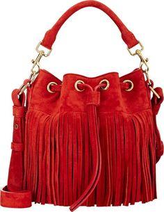 9b78703d00 Saint Laurent Emmanuelle Small Bucket Bag-Red Shoulder Strap Bag
