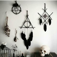 this dream catcher is cool and u guys can do this all by yourself and you will b. this dream catcher is cool and u guys can do this all by yourself and you will be satisfied also so catcher Cool diybookshelf diydog diydreamcatcher diyholz diyinterie Décor Wiccan, Wiccan Decor, Witchcraft, Goth Home Decor, Diy Home Decor, Book Of Shadows, Diy And Crafts, Diy Projects, Macrame Projects