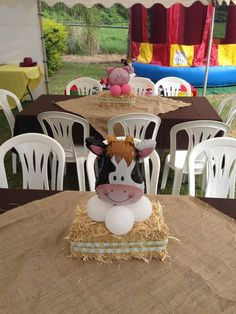 Baby animals farm birthday parties 58 Ideas for 2019 Cow Birthday, Farm Animal Birthday, Cowboy Birthday Party, Cowgirl Party, 3rd Birthday Parties, Birthday Ideas, Party Animals, Farm Animal Party, Farm Themed Party