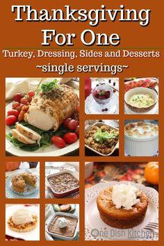 Dinner For One, Thanksgiving Dinner For Two, Easy Thanksgiving Recipes, Thanksgiving Side Dishes, Holiday Recipes, Thanksgiving Blessing, Dinner Recipes, Single Serve Meals, Single Serving Recipes