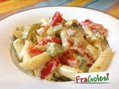 Pasta panna, peperoni e zucchine