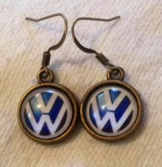 VW Earrings Volkswagen by EthnicCultures on Etsy, $6.00