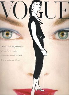 Vogue USA, April 1954 // illustrated by Rene Gruau