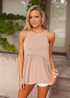 Online boutique. Best outfits. The Way It Should Be Tank Tan - Modern Vintage Boutique