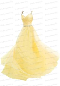 Long Spaghetti Yellow Chiffon Prom Dresses Criss Cross Formal Evening Party Gown #perfectevening