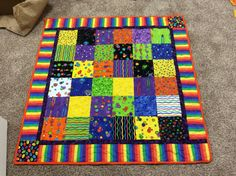 Small space quilt using charm pack