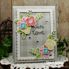Lawn Fawn - Lawn Cuts - Dies - Scalloped Rectangle Stackables With Love Card Lawn Fawn Stamps, Love Cards, Pretty Cards, Kids Cards, Craft Cards, Cards Diy, Get Well Cards, Mothers Day Cards, Card Tags