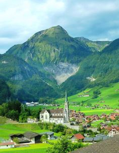 The village of Lungern in the canton of Obwalden