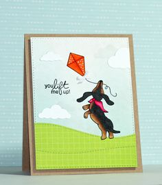 Hello! Today I have a card to share that uses the adorable Delightful Doxies…