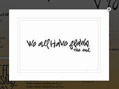 "Von.G Art: Original Saying/Quote ""We All Have Flaws. The End. (motivational)"" Black & White Double-Matted Sharpie Drawing Artwork (11x14). How much more truth can one fit in such a small statement?! Perfect gift for a friend - even motivation/inspiration for yourself! It looks great framed, hung & coupled with other Von.G Art pieces! The BLACK Sharpie-drawn artwork is heat-processed (to make the drawing lines solid) onto heavy 80lb/97 bright WHITE archival-quality/acid-free paper…"
