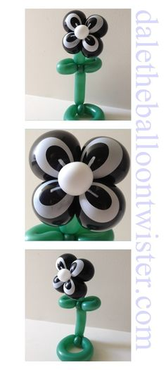 Balloon flower using spider-eye balloons.