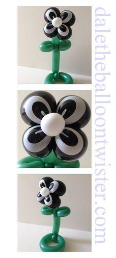 Balloon flower using spider-eye balloons.