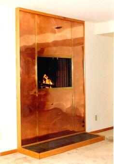 •♥•✿ڿڰۣ(̆̃̃•Aussiegirl  #fFires  copper fireplace