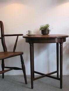 【アンティーク 古道具 JIKOH】レトロ ジャパン ヴィンテージ 造りの良いラウンドテーブル コーヒーテーブル【楽天市場】