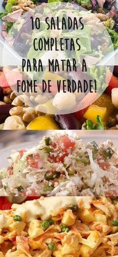 10 saladas completas para matar a fome com menos calorias Receitas de saladas proteicas que valem por refeições completas Vegetarian Recipes, Cooking Recipes, Healthy Recipes, Salad Dressing Recipes, Broccoli, I Love Food, Soul Food, Food For Thought, Food And Drink