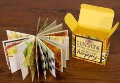 Tutorial on how to make a mini maze book and box from sheets of paper! Diy Mini Album, Mini Album Tutorial, Maze Book, Chicken Scratch Embroidery, Memory Album, Mini Photo, Handmade Books, Handmade Cards, Album Book