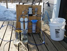 Sweet syrup season is upon us! We have been tapping trees on our property for 2 years and have worked to gradually… by mnhomesteader Maple Syrup Evaporator, Food Grade Buckets, Homemade Maple Syrup, Reverse Osmosis Water System, Ro Membrane, Large Mason Jars, Backyard Farming, Natural Sugar, Water Systems