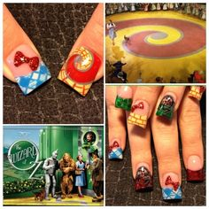 My daughter would love it if her madrina did this!      Wizard of Oz - Nail Art Gallery
