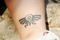 Zelda Triforce Tattoo and Wedding Ring