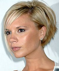 Victoria Beckham's bob hairstyles - side view