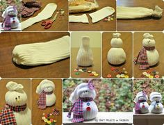 How to make sock snowmen diy diy ideas diy crafts do it yourself sock winter crafts christmas crafts snowmen Sock Snowman Craft, Sock Crafts, Snowman Crafts, Diy Crafts, Noel Christmas, Winter Christmas, Holiday Crafts, Holiday Fun, Holiday Activities