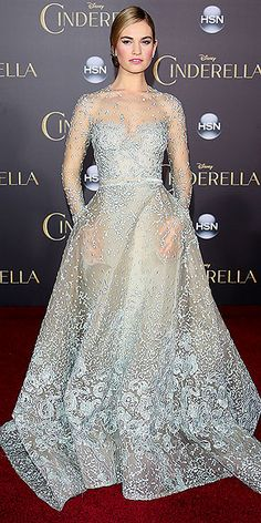 """Lily James's Magical Red Carpet Moments: See All the Cinderella Star's Chic Looks 