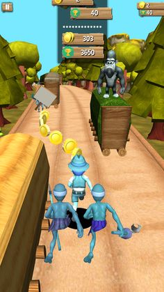 Gana Run is a thrilling and extremely fun game for android. Explore railway train backgrounds for extra leisure experience. Help the boy to run & escape from the enemies and monkeys. Careful for t…