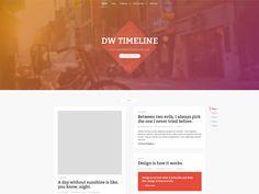 WordPress › DW Timeline « Free WordPress Themes