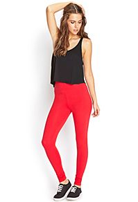 Get fab leggings in prints, solids, denim and edgy picks | Forever 21