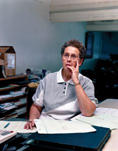 Family Business Collection, Joyce Perez, Epstein Furniture Bookkeeper for 50 Years, 2000 by Mitch Epstein