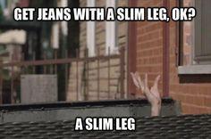slim leg ha ha . #girls #hbo
