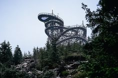 Rising above the Czech treeline like a vertically-oriented roller coaster, the Sky Walk is a conceptual structure worth the visit. It's built from wooden beams laid into a grid structure and supported by columns. While the walkway up obviously offers...