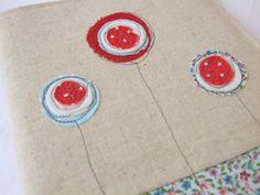 Lollipop flower notebook cover