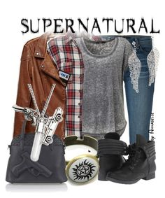 """""""Supernatural"""" by annabelle-95 ❤ liked on Polyvore featuring J Brand, Pink & Pepper and Kenneth Jay Lane"""