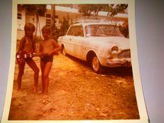 1970 - Petra Böhm - Auf dem Foto bin ich mit meinem Cousin zu sehen. Wir durften jedes Jahr gemeinsam mit unseren Großeltern mit dem Zelt zum Union Lido. Das war immer das Highlight des Jahres! Bei starken Gewittern hat uns unsere Oma aus Sicherheitsgründe immer im Waschhaus abgestellt, auch nachts. Das fanden wir immer sehr spannend und aufregend.