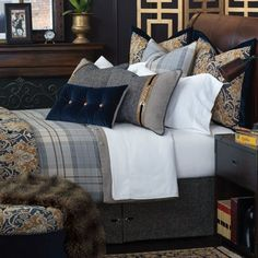 Discover more ways to relax with luxury bedding sets and bedding collections, offering the ultimate in designer style and comfort for your master bedroom or guestroom. Bed Sets, Duvet Sets, Duvet Cover Sets, Luxury Bedding Collections, Luxury Bedding Sets, Home Interior, Interior Design, Bed Scarf, Cool Beds