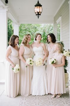 Bridesmaids in Pale Taupe | photography by http://www.jennahenderson.com/