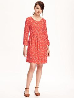 Princess Mary's Printed Dress Is a Reminder Not to Forget About the Classics  Old Navy Printed Waisted Swing Dress for Women ($35)