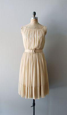 1950s Adelphi nude silk chiffon dress |   https://www.etsy.com/listing/103033504/1950s-dress-nude-chiffon-dress-adelphi