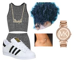 """Untitled #952"" by beautyqueen-927 ❤ liked on Polyvore featuring Topshop, adidas and Michael Kors"