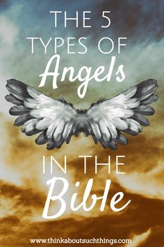 God's angels are awesome! Let's take a look at 5 types of angels in the Bible. #angels #angel #Bible #biblestudy #faith #Christian