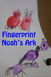 Life with Moore Babies: Fingerprint Noah's Ark